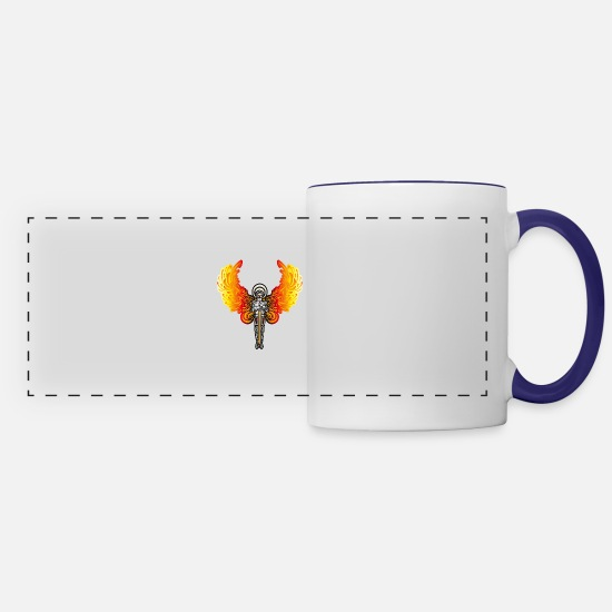 Angel Mugs & Drinkware - angel - Panoramic Mug white/cobalt blue