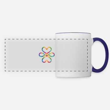 Jewelry colorful intertwined cords in rainbow colors - Panoramic Mug