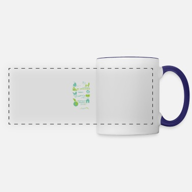 Goat I will dance here or there and everywhere - Panoramic Mug
