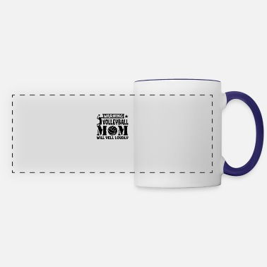 Yell Warning Volleyball Mom Yells Loudly Mug - Panoramic Mug