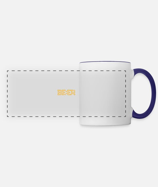 Alcoholic Mugs & Cups - Oh! Already Beer o'clock - Drinking Party - Panoramic Mug white/cobalt blue