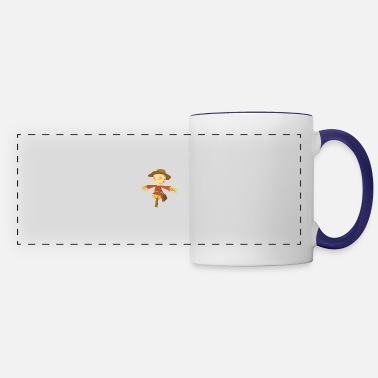 Fall Fall Scarecrow Out Standing in His Field - Panoramic Mug