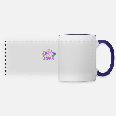 Hippie Festival Cute It's Trippy To Be a Hippie Festival Hipster - Panoramic Mug