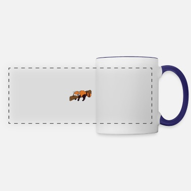 Animal Lazy Red Panda To Do List Nothing - Panoramic Mug