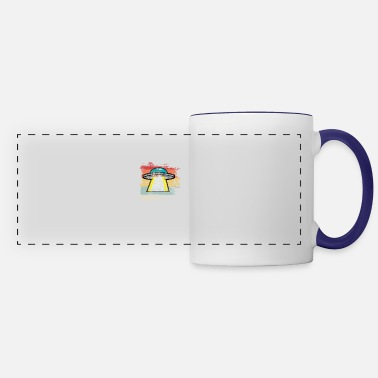 Outerspace Retro Outerspace - Panoramic Mug
