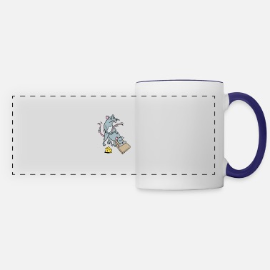 Mouse Mouse Screwing a Mouse in a Mousetrap Funny Joke - Panoramic Mug