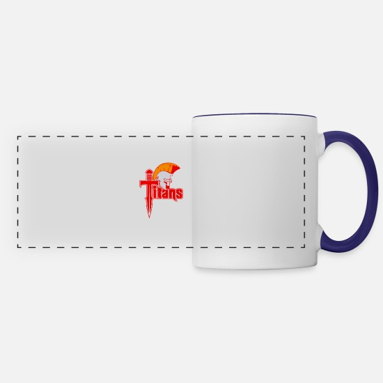 Titanic Mugs & Drinkware - Titans - Panoramic Mug white/cobalt blue