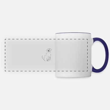 Cute Golden Retriever A Cute Golden Retriever Design - Panoramic Mug