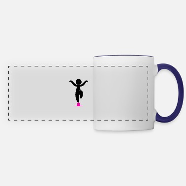 Karate Karate Kid Exerts A Martial Arts - Panoramic Mug