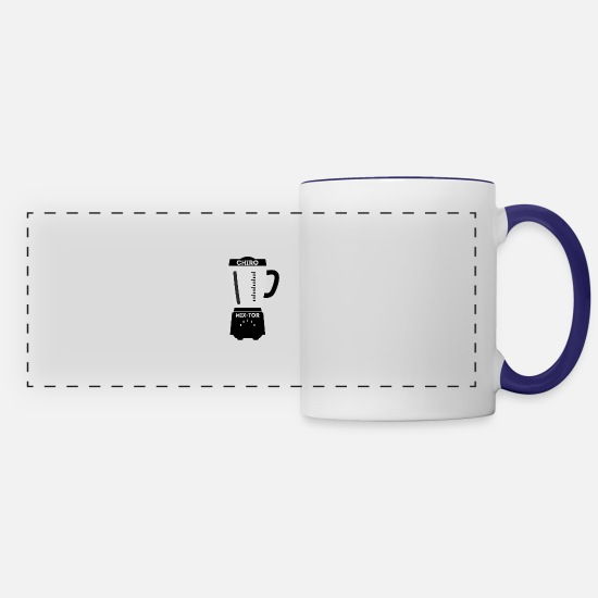 Chiropractic Mugs & Drinkware - Chiropractic Blender Mix Tor - Panoramic Mug white/cobalt blue