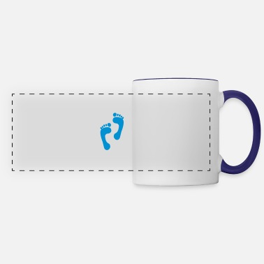 Foot foot - feet - foot print - Panoramic Mug