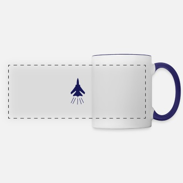 Fighter fighter jet - Panoramic Mug