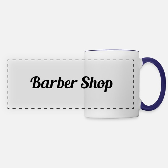 Rocker Mugs & Drinkware - barber - Panoramic Mug white/cobalt blue