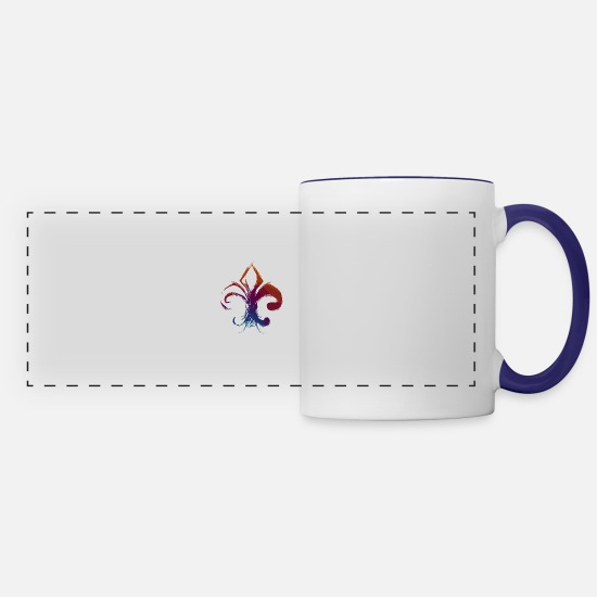 Boy Scouts Mugs & Drinkware - boy scout - pathfinder - Panoramic Mug white/cobalt blue