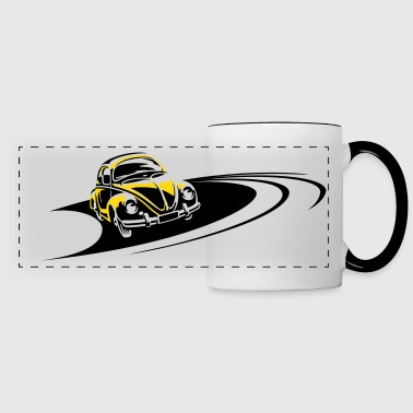 Race Track Beetle Car Racing Track - Panoramic Mug
