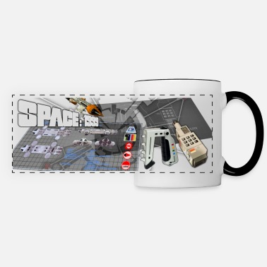 Moonbase 1999 Hardware Collage - Panoramic Mug