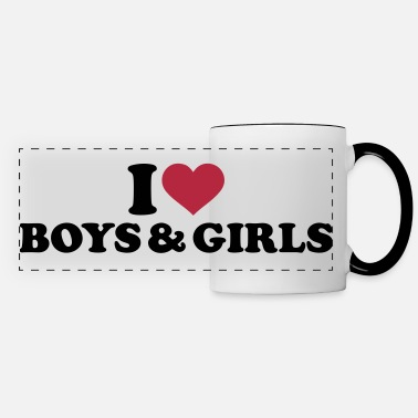 Bisexual I love boys and girls - Panoramic Mug