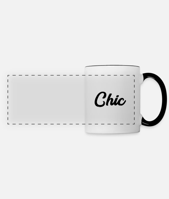 Witty Mugs & Drinkware - chic J - Panoramic Mug white/black
