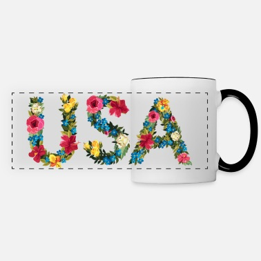 Flower USA - Panoramic Mug