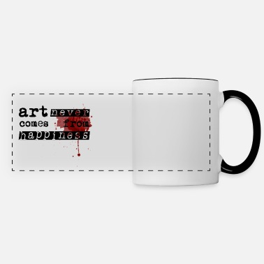 Graphic Art &amp Art Comes From Happiness - Panoramic Mug