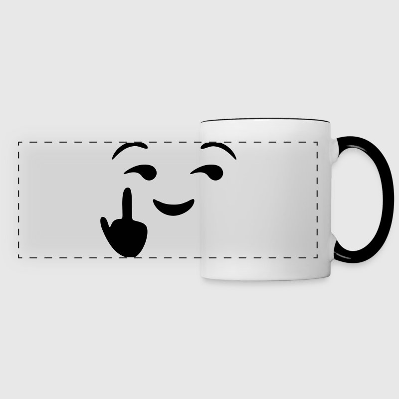 Fuck you  - emoticon - smiley - Panoramic Mug