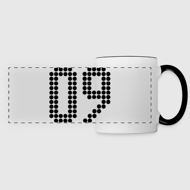 09, Numbers, Football Numbers, Jersey Numbers - Panoramic Mug