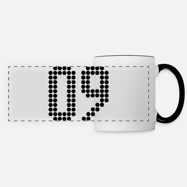 Jersey Number 09, Numbers, Football Numbers, Jersey Numbers - Panoramic Mug