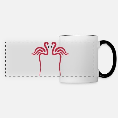 Flamingoes Flamingo, Flamingos - 3 colors - Panoramic Mug