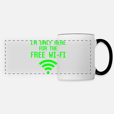 Design I'm Only Here For The Free Wifi Funny Geek Nerd - Panoramic Mug