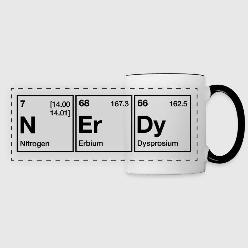 nerdy periodic table word panoramic mug - Periodic Table Mug Australia