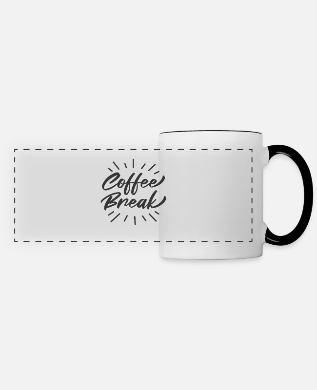 Present Idea Mugs & Cups - coffee break - Panoramic Mug white/black