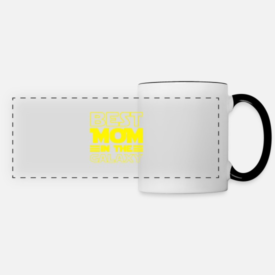 Women Mugs & Drinkware - Best Mom in the Galaxy Mothers Gift - Panoramic Mug white/black