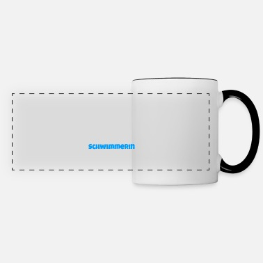 Water Sports swimmer cool thumbs up gift - Panoramic Mug
