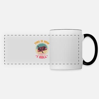 Roll Funny Cassette Tape Pencil How I Roll 70s 80s 90s - Panoramic Mug
