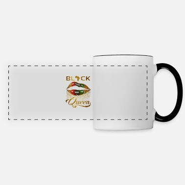 Black Black Queen Lips Africa Green Red Diva - Panoramic Mug