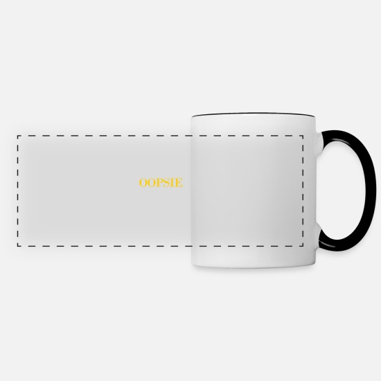 Offensive Mugs & Drinkware - OOPSIE - Panoramic Mug white/black