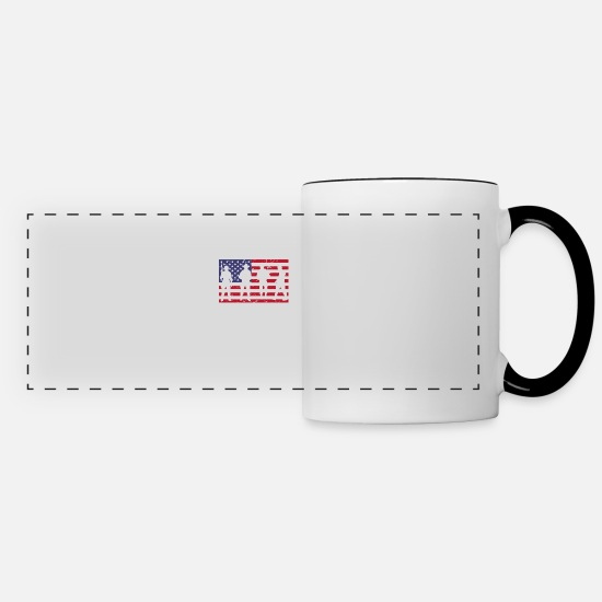 Support Mugs & Drinkware - Thank You Soldiers Troops Memorial Day - Panoramic Mug white/black