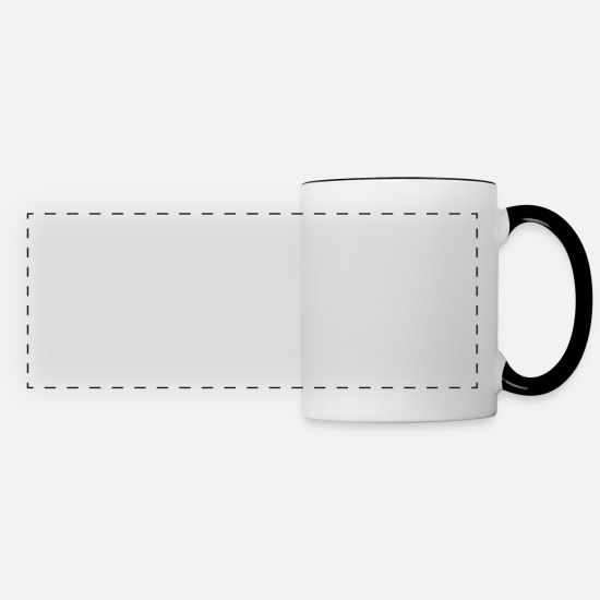 Our Lord Mugs & Drinkware - I rode well actually I fed turned our mucked stall - Panoramic Mug white/black