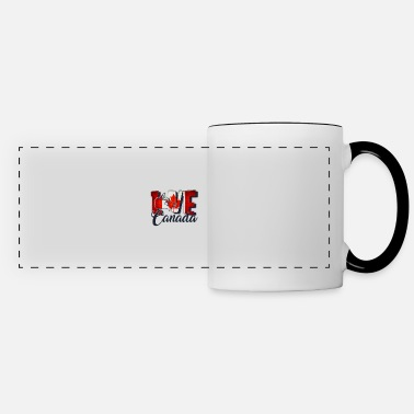 Canada I Love Canada - Canadian Flag T-shirts and gifts - Panoramic Mug