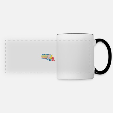 Model Children's Railway Locomotive Station Train Motif - Panoramic Mug