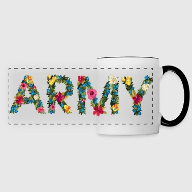 Flower army - Panoramic Mug