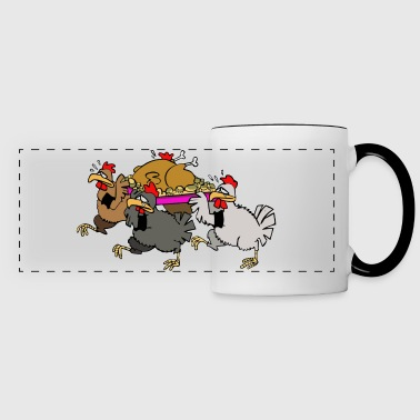Chicken funeral - Panoramic Mug