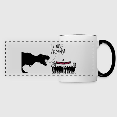 I love VEGANS - Panoramic Mug