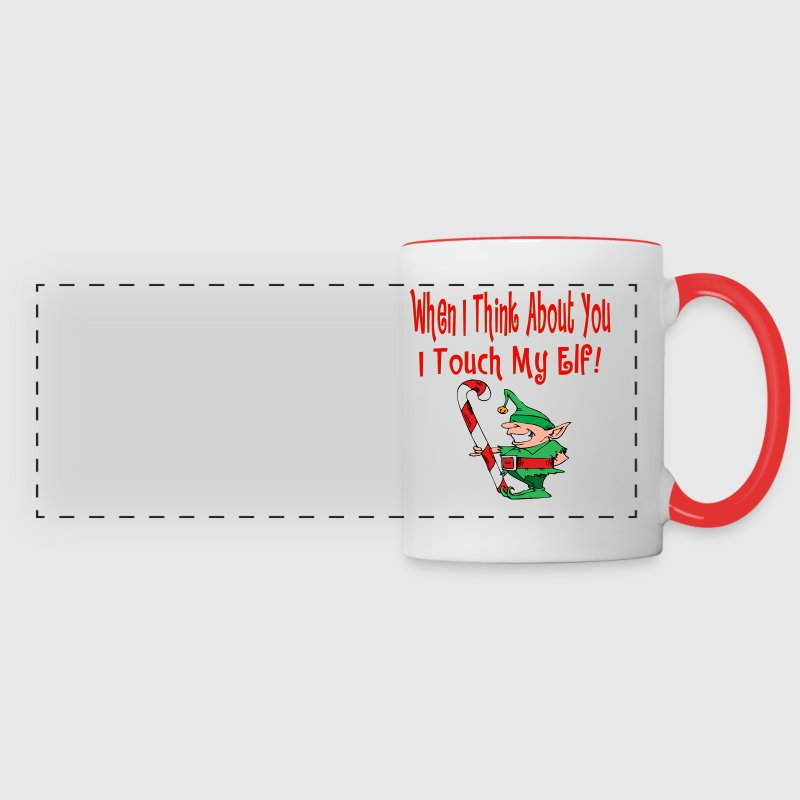 Naughty Elf  Touch My Elf - Panoramic Mug