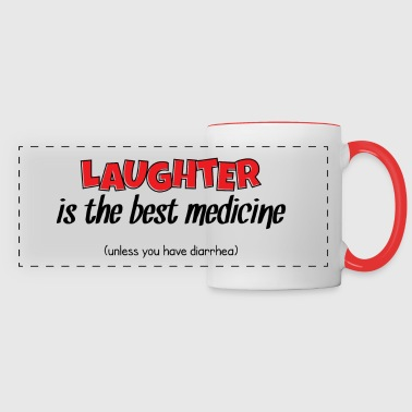 Laughter Best Medicine - Panoramic Mug