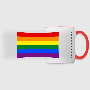 rainbow flag - Panoramic Mug