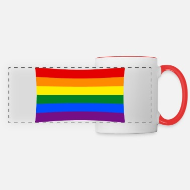 Rainbow Flag rainbow flag - Panoramic Mug