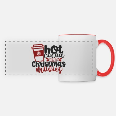 Movie Hot Cocoa and Christmas Movies - Panoramic Mug
