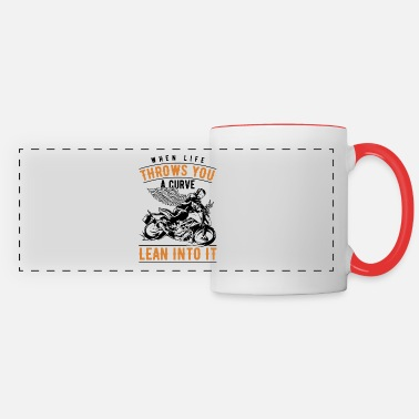 Motorcycle Lean into the Curve Biker Motorcyclist Bike Gift - Panoramic Mug