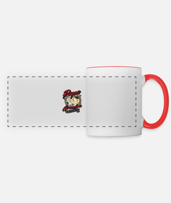 Honor Mugs & Cups - Being A Papa Is An Honor - Panoramic Mug white/red